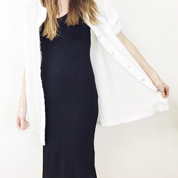 Johan Vintage Black Midi Dress