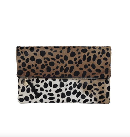 Clare V. Foldover Clutch - Leopard Hair