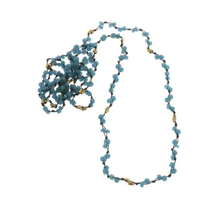 Hom Art Fishingline Necklace - Blue/Black