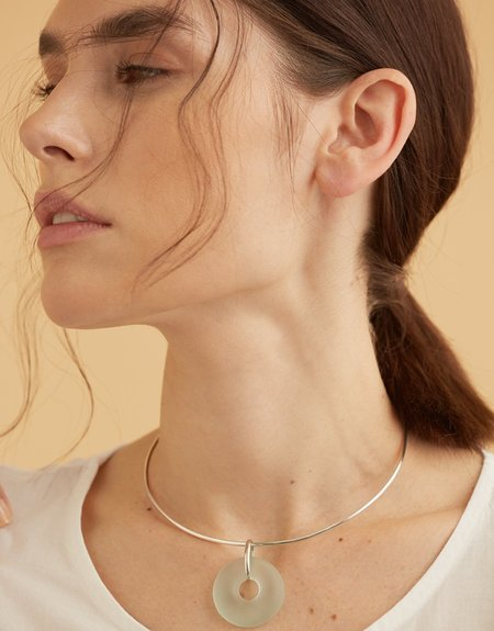 Cled Circle Choker Necklace - Sterling Silver