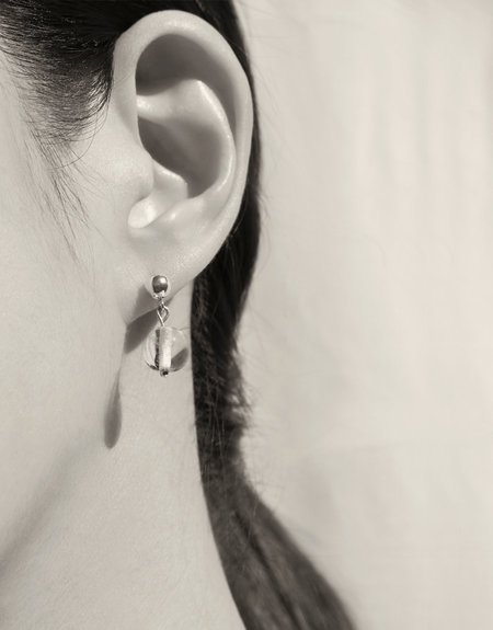 Cled Small Minimal Ball Earrings - Sterling Silver