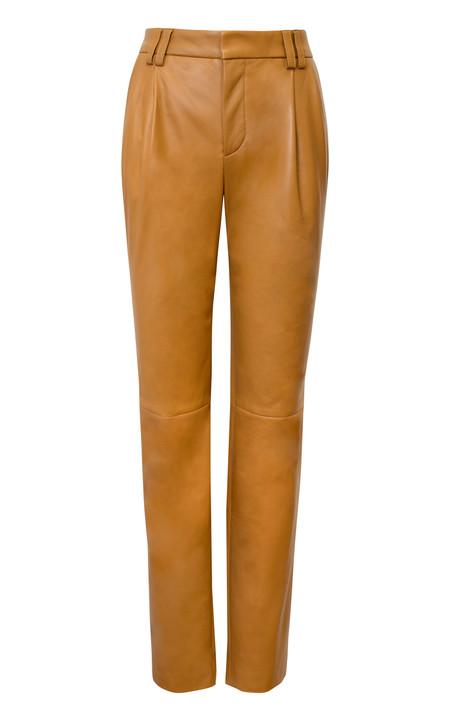 Alejandra Alonso Rojas Nappa Leather Trouser - Camel