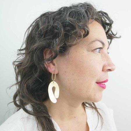 Seaworthy Muslos Earrings - Brass