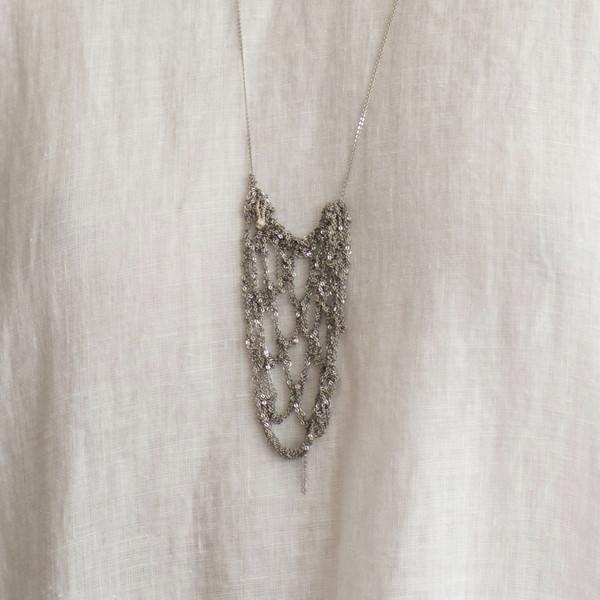 Arielle De Pinto Netted Drop Necklace
