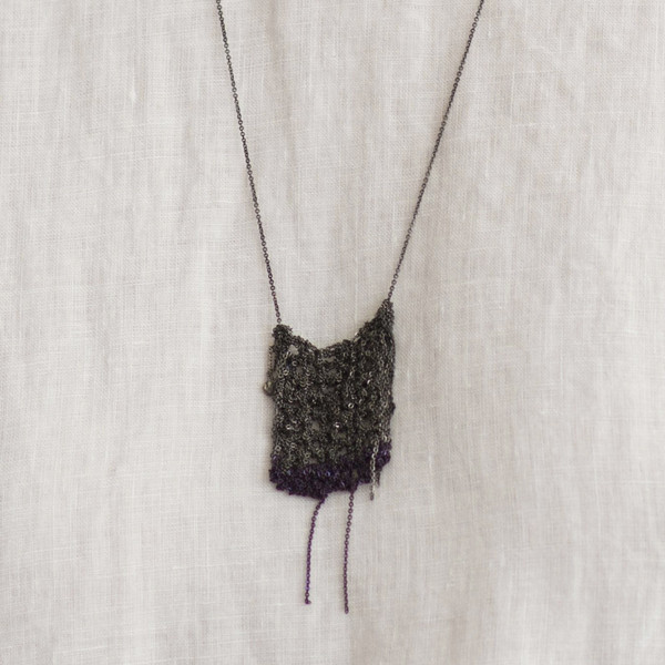 Arielle De Pinto Square Inch Drop Necklace