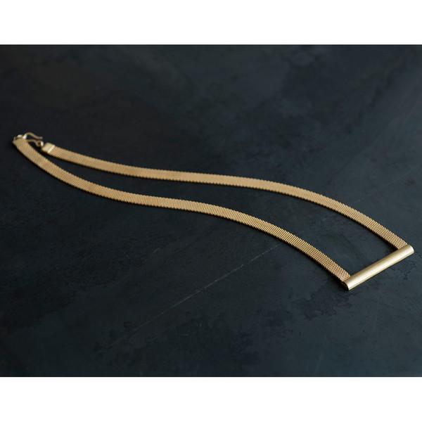 Etten Eller 07.18.1988 Short Half-Round Bar Necklace