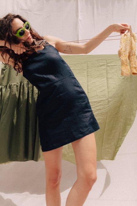 Mimi Holvast Fitted Dress - Deep Sea