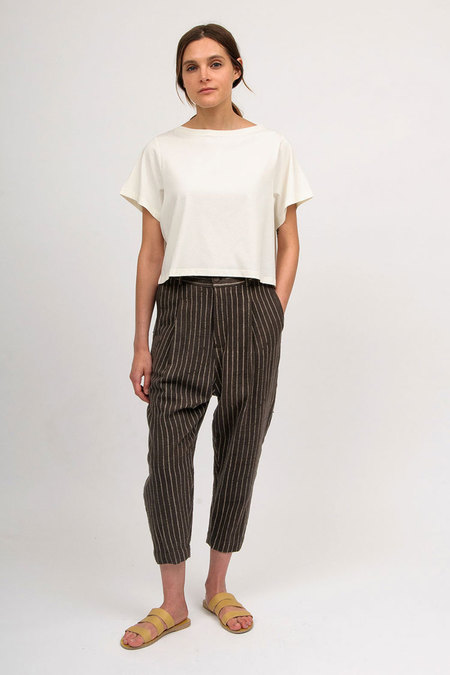 11.11 / Eleven Eleven Tailored Pants - Brown/Cream
