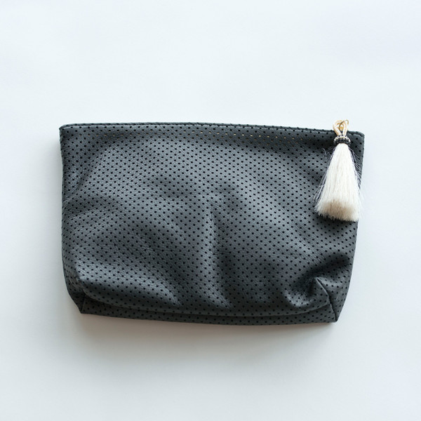Kempton & Co Perforated Tassel Pouch