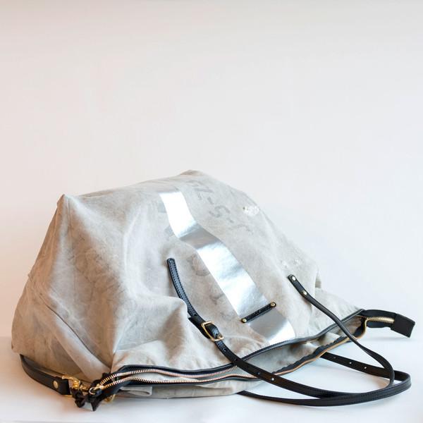 Kempton & Co Postal Silver Stripe Crossbody - SOLD OUT