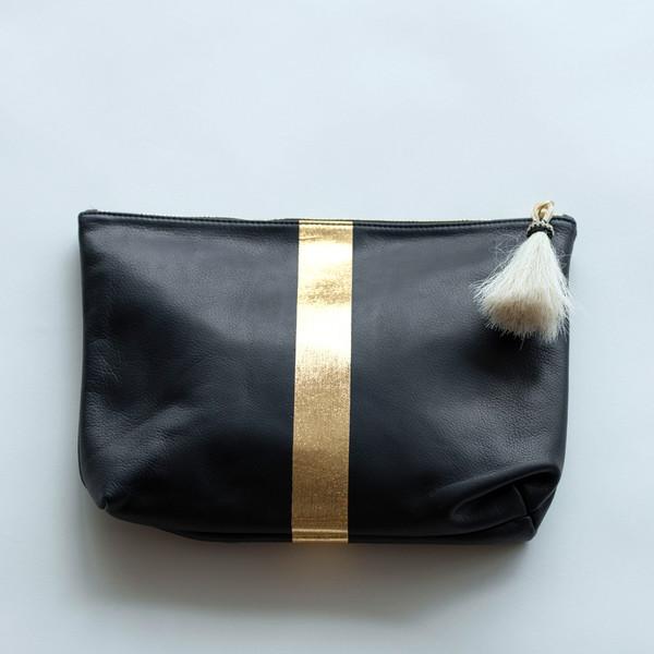 Kempton & Co Tassel Pouch Navy/Gold