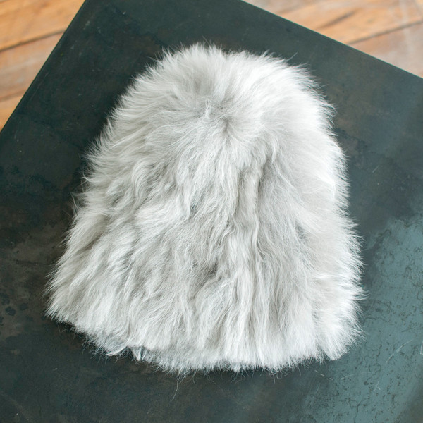 Rachel Comey Fur Beanie Silver - SOLD OUT