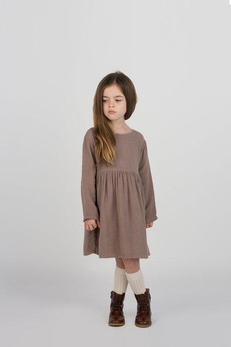 Kids Go Gently Nation Gauze Prairie Dress - Mud
