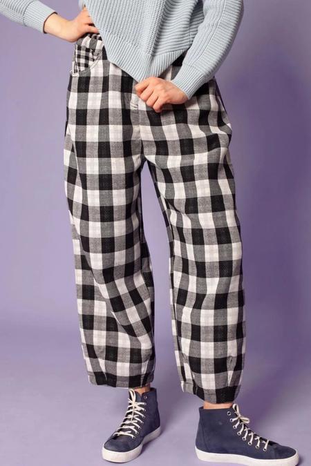 LF markey Fat Boys Pant - Black Check Cotton
