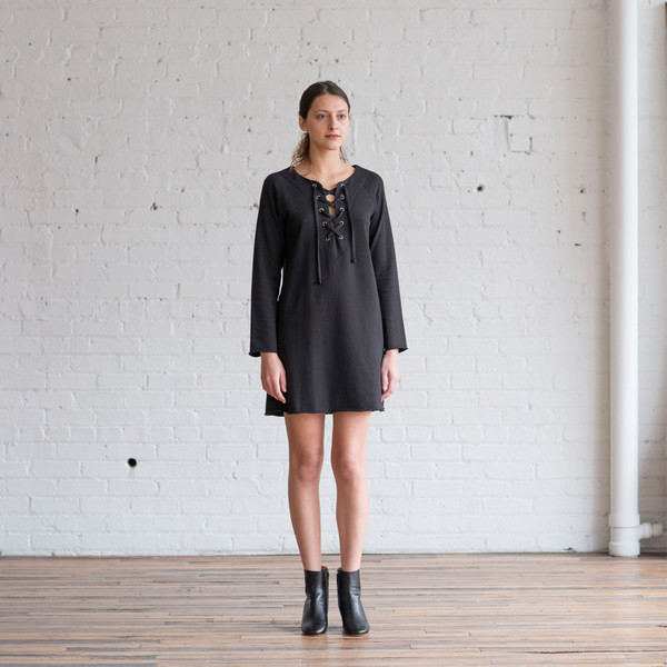 Raquel Allegra Front Lace-Up Dress - SOLD OUT