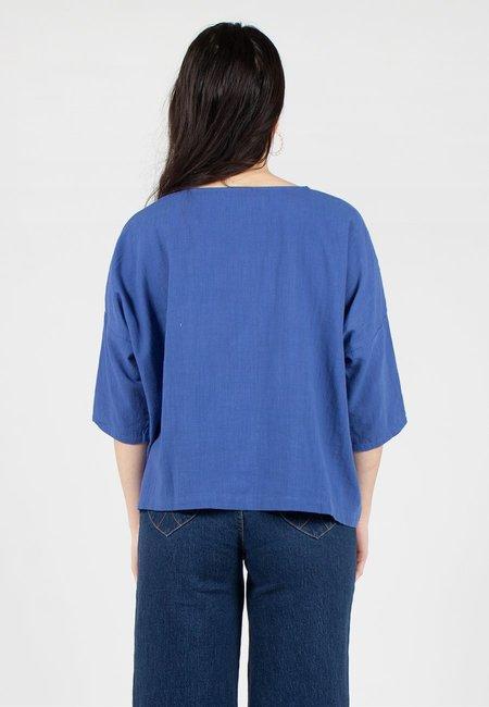 L.F.Markey Basic Linen Top - cobalt