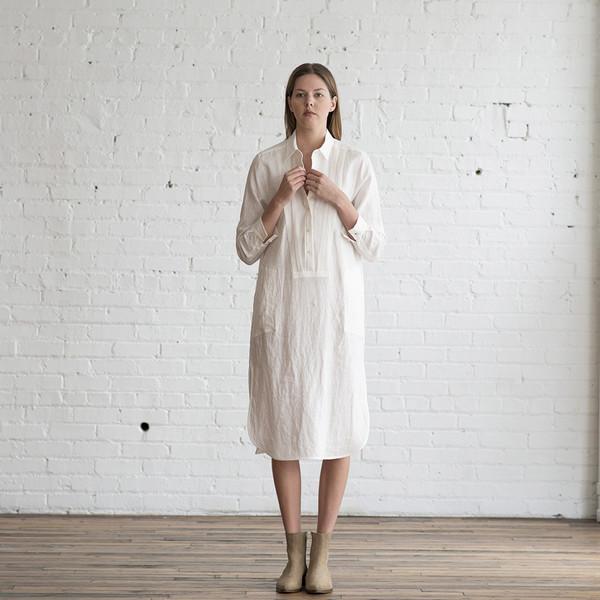 Raquel Allegra Linen Shirt Dress