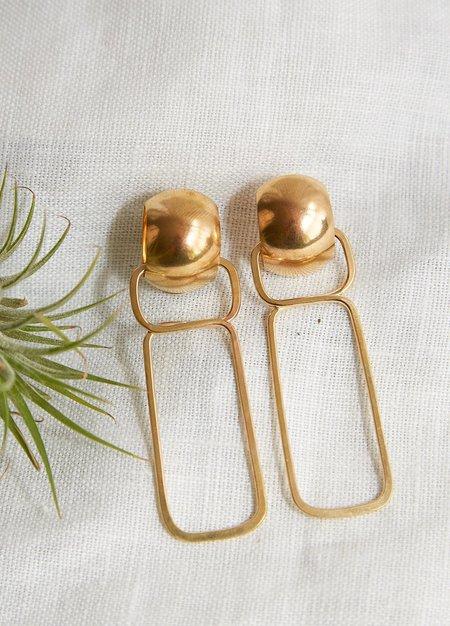 Lila Rice Allegra Earrings - Brass