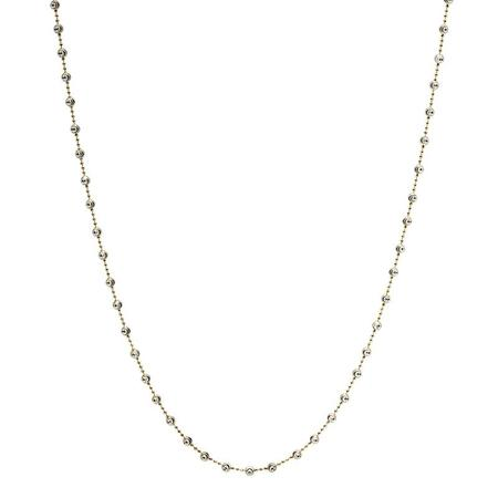 "Officina Bernardi 36"" Silver and Yellow Moon Necklace"