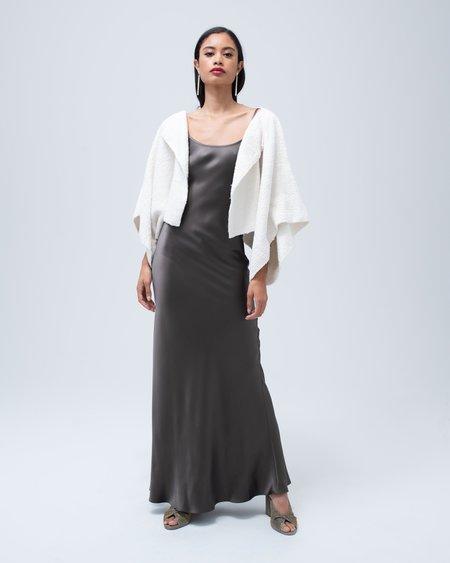 VOZ Apparel Textured Organic Cotton Bolero - Ivory