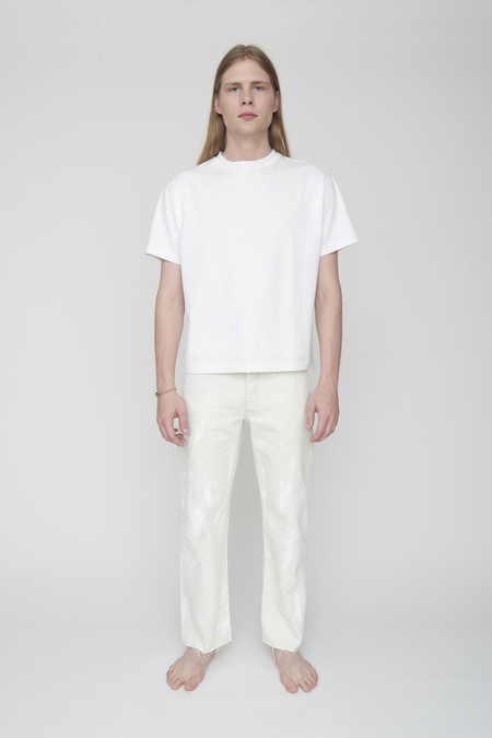 Unisex Tanaka DAD JEAN TROUSERS - WHITE BLEACH