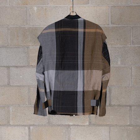 The Viridi-Anne Zip-up Jacket - Check