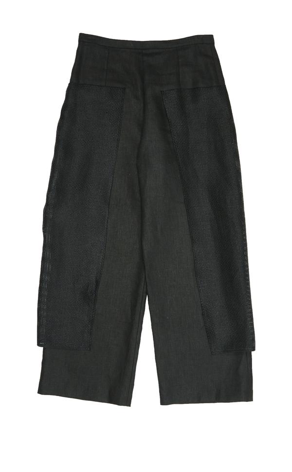 Collina Strada Linen Gauley Pant- Black Linen