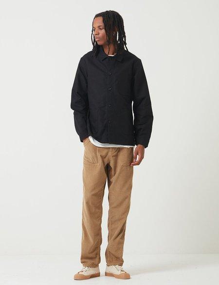 Le Laboureur Work Jacket in Linen - Black