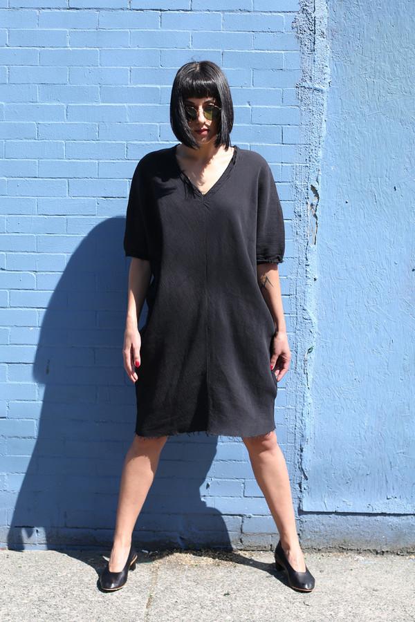 BLACK CRANE ORIGAMI DRESS