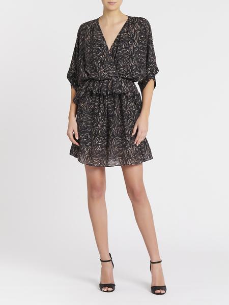 IRO Tlaloc Dress - Black/Pink