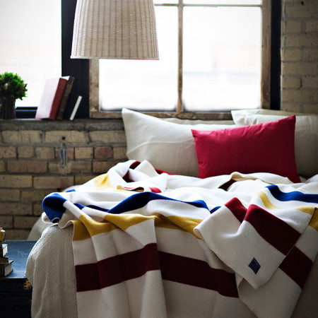 Faribault Revival Stripe Wool Blanket
