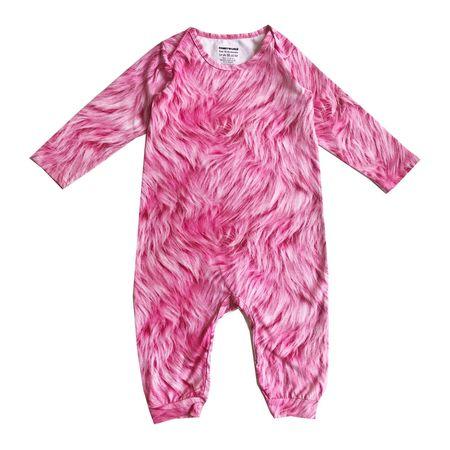Kids Romey Loves Lulu Long Body Onesie - Pink Fur