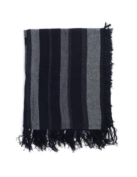 The Viridi-Anne Wool Scarf -  Black/Grey