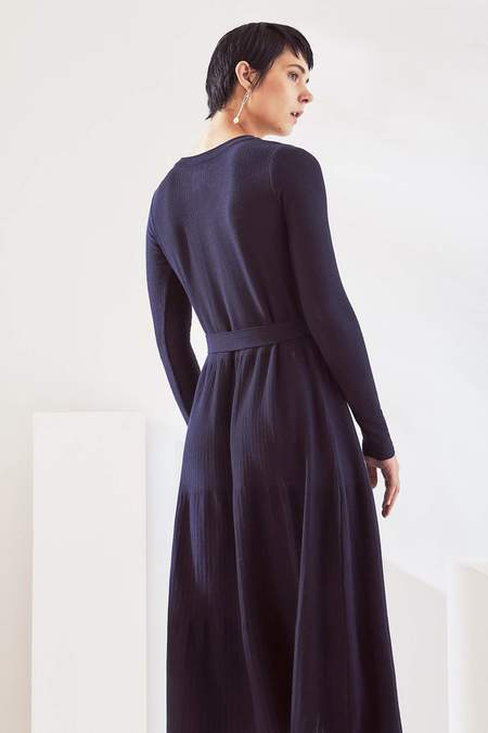 Kowtow Long Sleeve Kaolin Dress - night