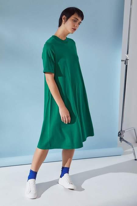 Kowtow Triangle T-Shirt Dress - evergreen
