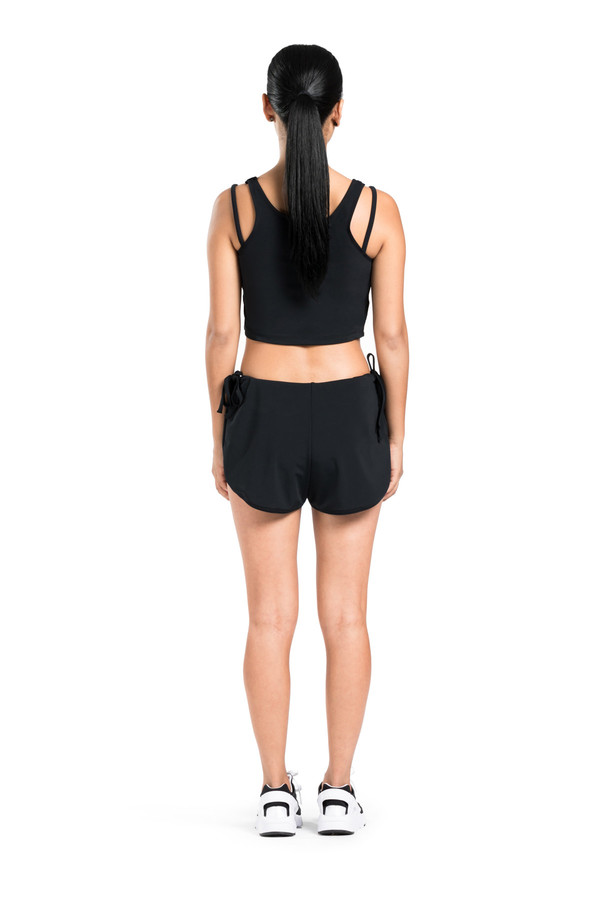 BETH RICHARDS Lolita Short - Black RUNNER STYLE SHORT WITH INNER PANTY