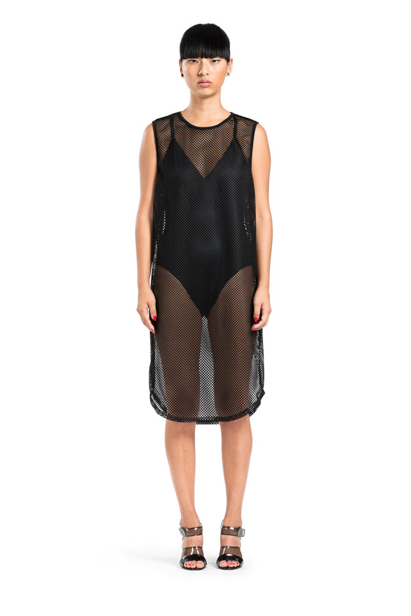 BETH RICHARDS Pilar Dress - Black Mesh <div>SPORTY MESH DRESS COVER UP</div>