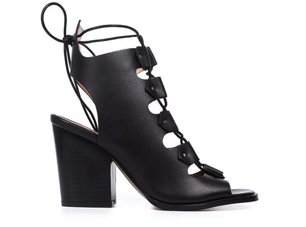 L'Intervalle Benjiro Sandals (Black Leather)