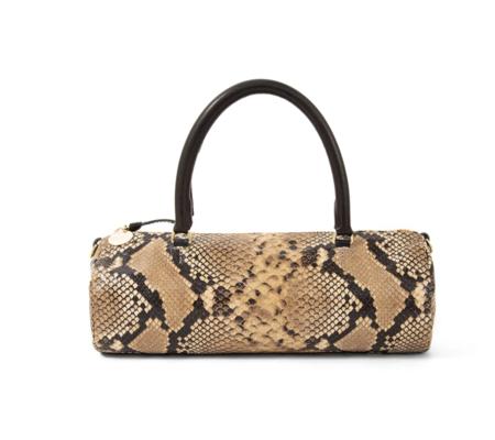 Clare V. Pepe Bag - Tan Spring Snake