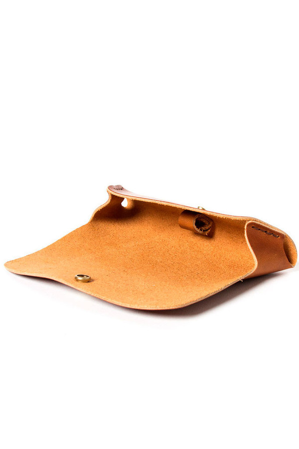 Wood & Faulk Sunglasses Case Saddle Tan