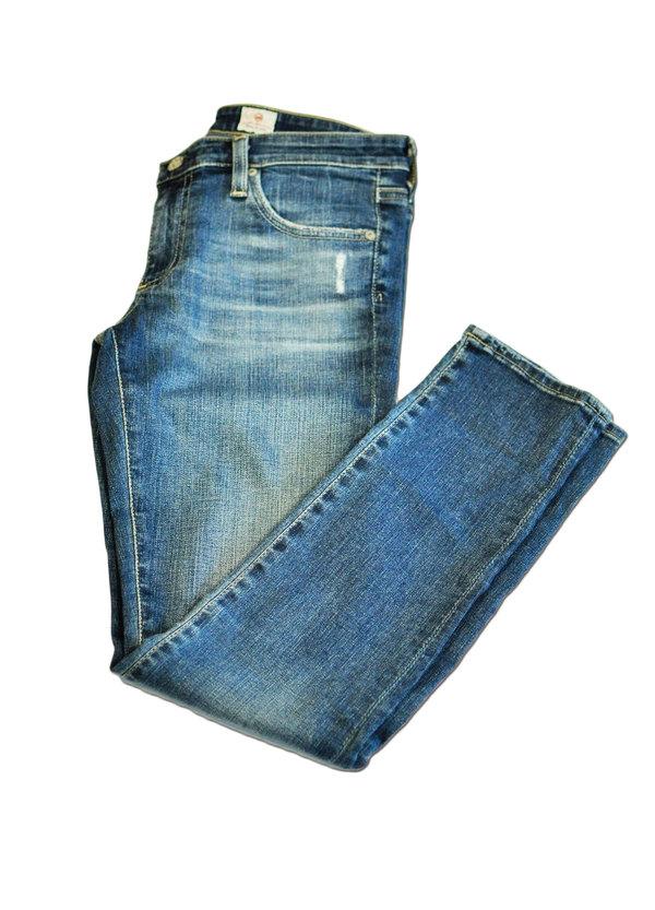 Distressed Blue, Denim Legging