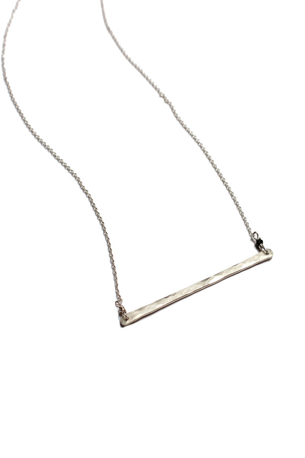 Sarah Dunn Sterling Silver Bar Necklace