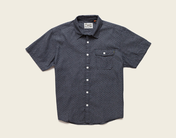 Howler Brothers - San Gabriel Shirt - Sea Fans Deep Black