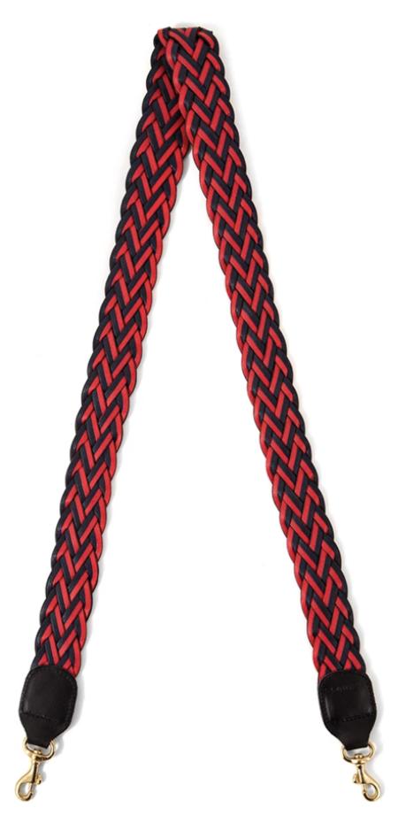 Clare V. Clare Viver Crossbody Strap - Navy/Red