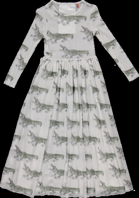 Kids Caroline Bosmans Knit Croc(o) Printed Maxi Dress - White