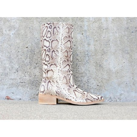 FREDA SALVADOR JULIA MID SHAFT BOOT - VANILLA SNAKE
