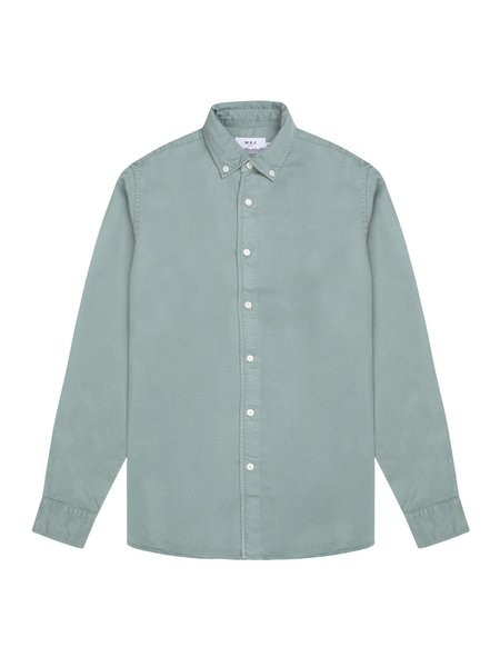 Wax London Bampton Tencel Shirt - Stormy Sea
