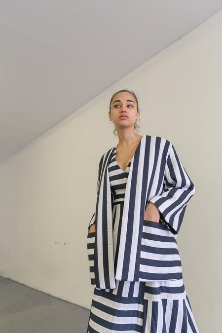 MARA HOFFMAN ALTHEA JACKET - NAVY/WHITE