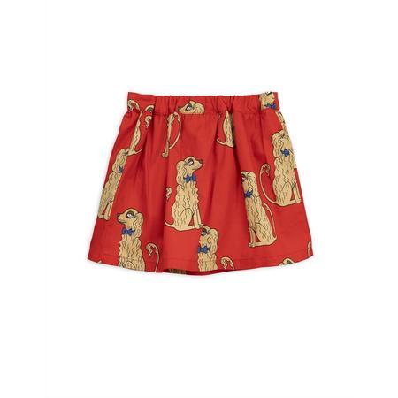 KIDS mini rodini spaniel woven skirt - red
