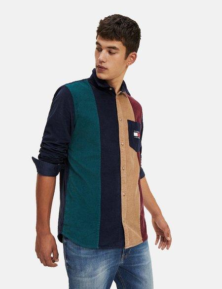 Tommy Hilfiger Colourblock Cord Shirt - Black Iris/Multi